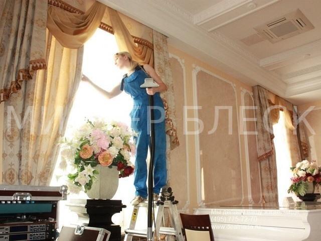 отстирать жирные пятна на шторах