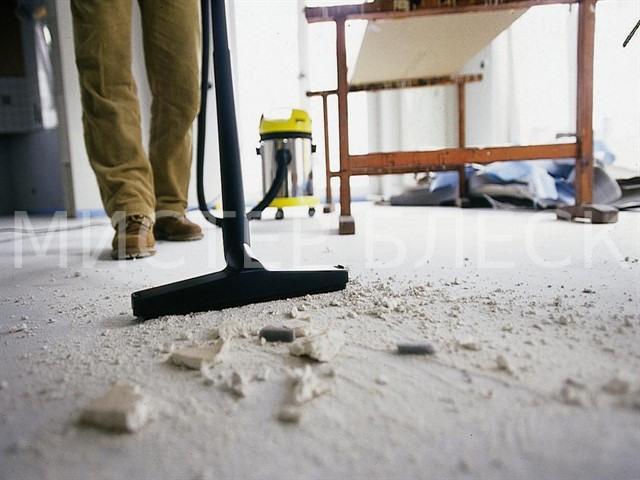 Как убрать бетонную пыль после ремонта